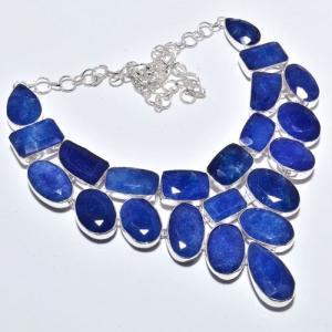 Sa 9385a collier sautoir parure saphir bleu 155gr achat vente bijou ethnique argent 925
