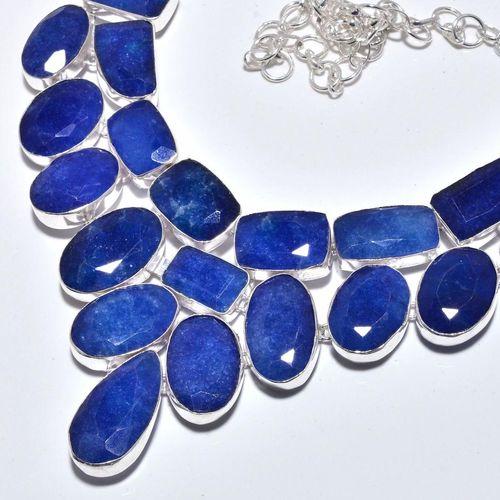Sa 9385b collier sautoir parure saphir bleu 155gr achat vente bijou ethnique argent 925