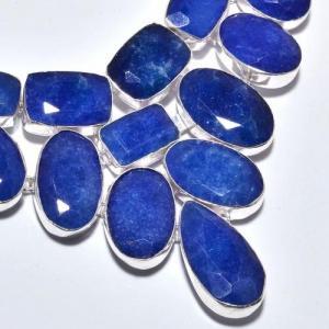Sa 9385c collier sautoir parure saphir bleu 155gr achat vente bijou ethnique argent 925