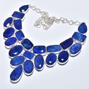Sa 9385d collier sautoir parure saphir bleu 155gr achat vente bijou ethnique argent 925