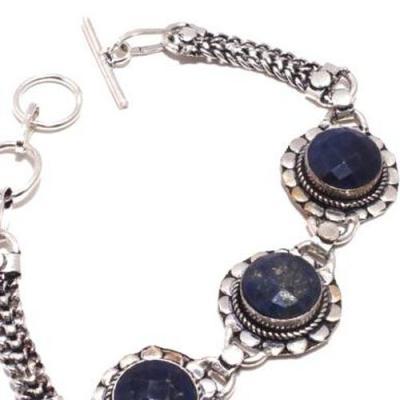 Sa 9387b bracelet 3 saphir bleu 20gr achat vente bijou ethnique argent 925
