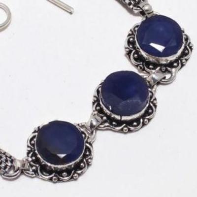 Sa 9388b bracelet 3 saphir bleu 24gr achat vente bijou ethnique argent 925