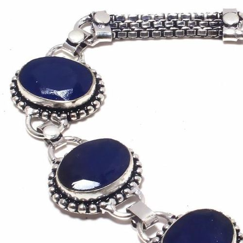 Sa 9391c bracelet 3 saphir bleu 23gr achat vente bijou ethnique argent 925
