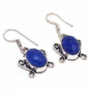 Sa 9392c collier boucles oreilles parure saphir bleu 38gr achat vente bijou ethnique argent 925