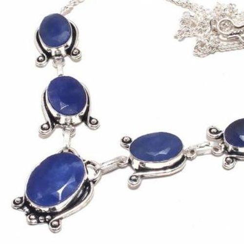 Sa 9394b collier sautoir parure saphir bleu 28gr achat vente bijou ethnique argent 925