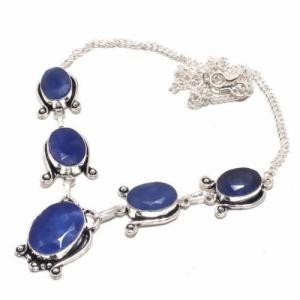 Sa 9394d collier sautoir parure saphir bleu 28gr achat vente bijou ethnique argent 925