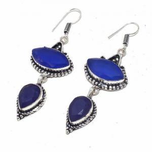 Sa 9398b boucles oreilles parure saphir bleu 16gr achat vente bijou ethnique argent 925