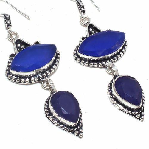 Sa 9398c boucles oreilles parure saphir bleu 16gr achat vente bijou ethnique argent 925