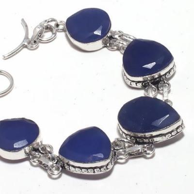 Sa 9401b bracelet 5 saphir coeurs bleu 24gr achat vente bijou ethnique argent 925