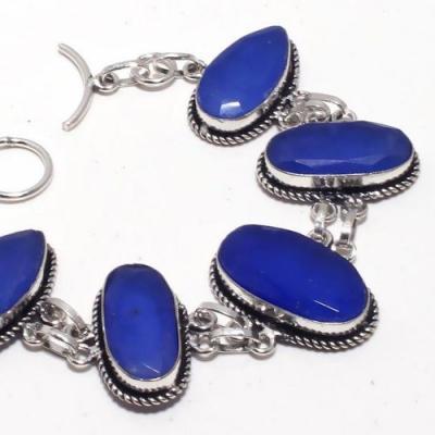 Sa 9404b bracelet 5 saphir ovales bleu 24gr achat vente bijou ethnique argent 925