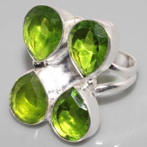 Sl 011 c bague quartz peridot argent 925 achat vente