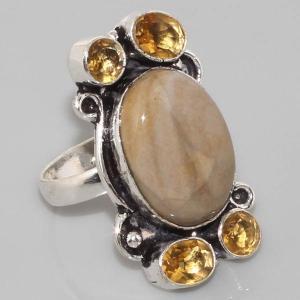 Sl 017a bague jaspe argent 925 bijoux achat vente jpg