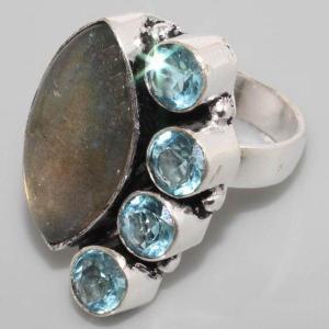 Sl 025b bague labradorite topaze achat vente bijoux argent 925