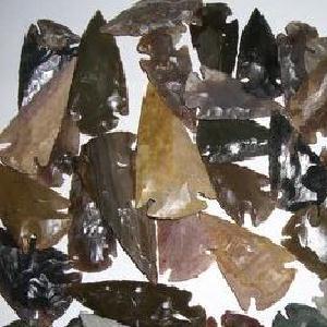 Slx 016b pointe de fleche silex prehistorique harpon sagaie achat vente