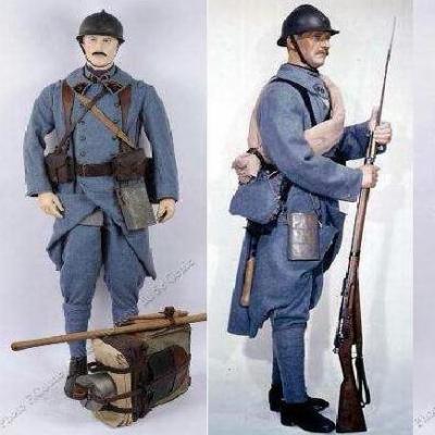 Soldat poilu bleu horizon 1914 1918