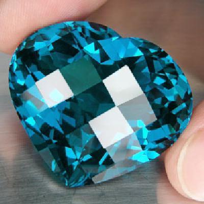Tp 1105a coeur ocean topaze bleu suisse pierre naturelle lithotherapie gemme achat vente bijou