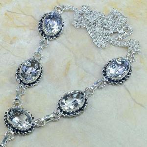 Tpz 003b collier parure sautoir topaze blanche bijou argent 925 vente achat