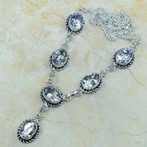 Tpz 003d collier parure sautoir topaze blanche bijou argent 925 vente achat