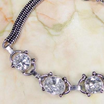 Tpz 007b bracelet topaze blanche bijou argent 925 vente achat