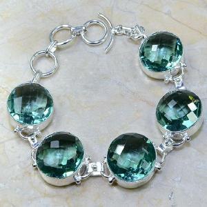Tpz 009a bracelet topaze bleue bijou argent 925 vente achat