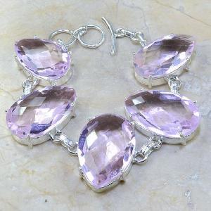 Tpz 015a bracelet topaze rose mauve bijou argent 925 vente achat