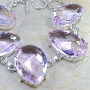 Tpz 015b bracelet topaze rose mauve bijou argent 925 vente achat