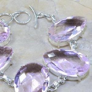 Tpz 015c bracelet topaze rose mauve bijou argent 925 vente achat