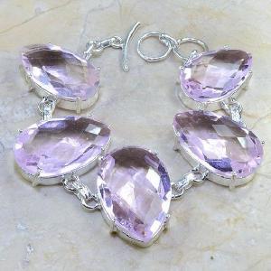 Tpz 015d bracelet topaze rose mauve bijou argent 925 vente achat
