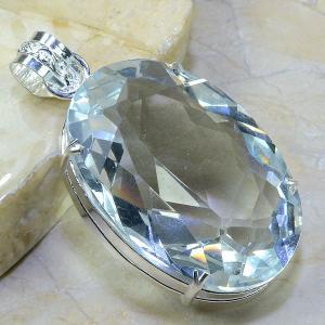 Tpz 017a pendentif pierre topaze blanche gemme taille bijou argent 925 vente achat