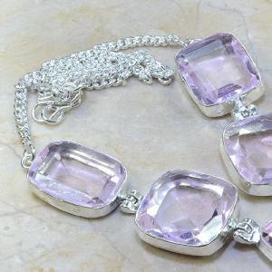 Tpz 019b collier parure sautoir topaze mauve rose bijou argent 925 vente achat