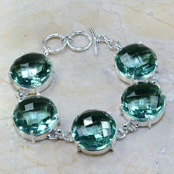 Tpz 020a bracelet topaze bleu vert bijou argent 925 vente achat