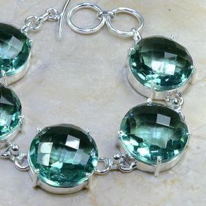 Tpz 020b bracelet topaze bleu vert bijou argent 925 vente achat