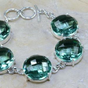 Tpz 020c bracelet topaze bleu vert bijou argent 925 vente achat