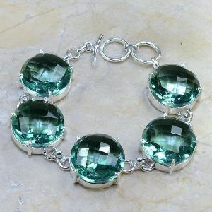 Tpz 020d bracelet topaze bleu vert bijou argent 925 vente achat
