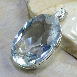 Tpz 021b pendentif pierre topaze blanche gemme taille bijou argent 925 vente achat