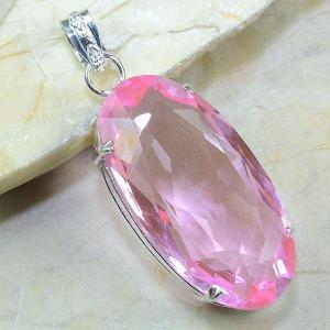 Tpz 024a pendentif pierre topaze rose gemme taille bijou argent 925 vente achat 1