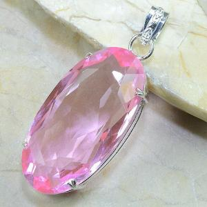 Tpz 024b pendentif pierre topaze rose gemme taille bijou argent 925 vente achat
