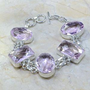 Tpz 025a bracelet topaze rose mauve bijou argent 925 vente achat 1