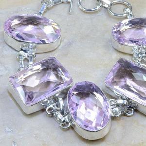 Tpz 025c bracelet topaze rose mauve bijou argent 925 vente achat