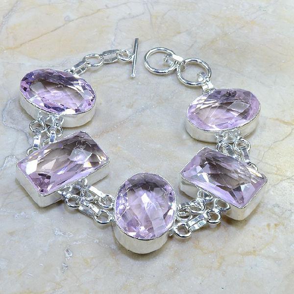 Tpz 025d bracelet topaze rose mauve bijou argent 925 vente achat 1