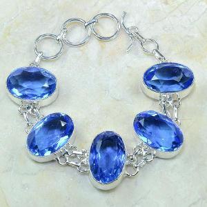 Tpz 026a bracelet topaze bleue bijou argent 925 vente achat
