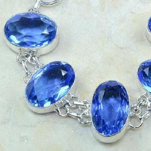 Tpz 026b bracelet topaze bleue bijou argent 925 vente achat