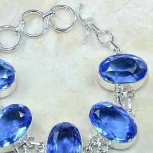Tpz 026c bracelet topaze bleue bijou argent 925 vente achat