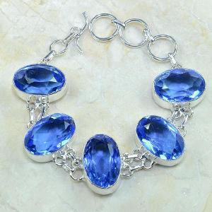Tpz 026d bracelet topaze bleue bijou argent 925 vente achat