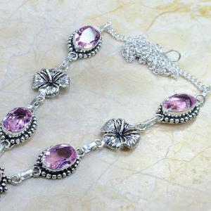 Tpz 028b collier parure sautoir topaze mauve rose bijou argent 925 vente achat