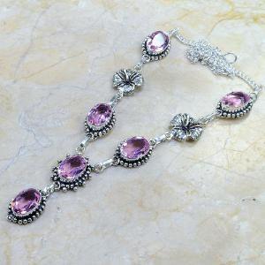 Tpz 028d collier parure sautoir topaze mauve rose bijou argent 925 vente achat