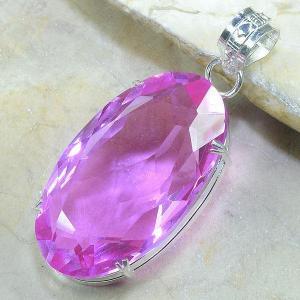Tpz 032b pendentif pierre topaze rose gemme taille bijou argent 925 vente achat