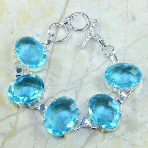 Tpz 034a bracelet topaze bleue bijou argent 925 vente achat