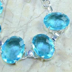 Tpz 034b bracelet topaze bleue bijou argent 925 vente achat