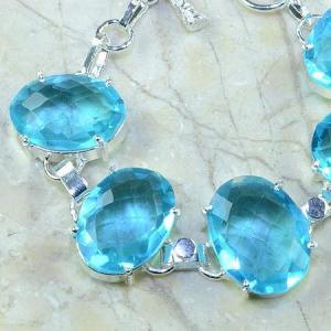 Tpz 034c bracelet topaze bleue bijou argent 925 vente achat